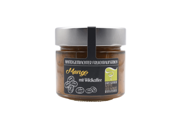 Dresdner Kaffee und Kakao Rösterei Fruchtaufstrich Mango Wildkaffee