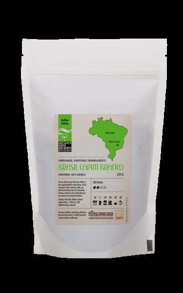 Dresdner Kaffee und Kakao Roesterei Ganze Bohne Brasil Capim Branco 250g