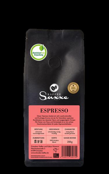 Dresdner Kaffee und Kakao Rösterei KaffeeSaxxe Espresso 250g