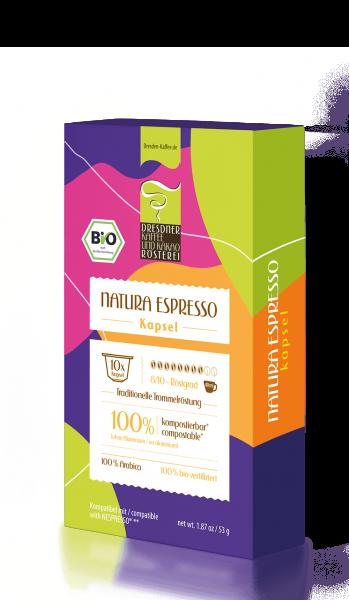 Dresdner Kaffee und Kakao Rösterei Natura Bio Espressokapseln