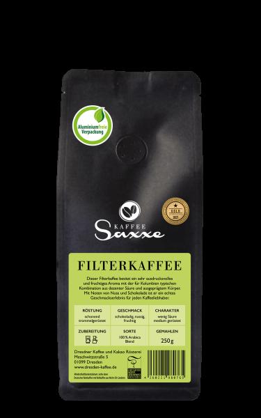 Dresdner Kaffee uind Kakao Rösterei KaffeeSaxxe Filterkaffee 250g