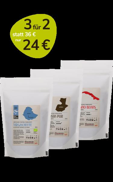 Aktion 3 für 2 Single Origin Kaffee und Espresso