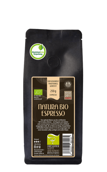 Dresdner Kaffee und Kakao Roesterei Natura Bio Espresso 250g